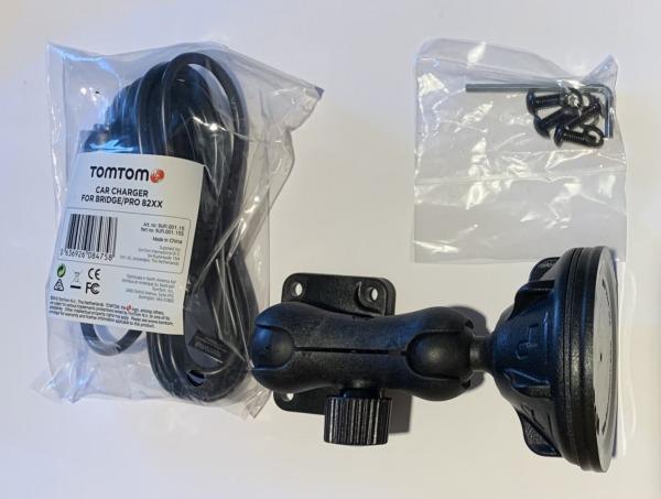 TomTom Fixation pour pare-brise RAM + Chargeur de voiture p. TomTom PRO 8275 Truck